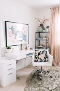 floral accent interior design